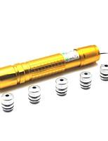 LT-05 Zoom Licht Spiel Green Laser Pointer (1 MW, 532nm, 1x18650, Golden)