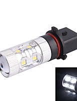 P13W 60W 12xLED SMD 650LM 6500K White Light LED for Car Foglight Headlamp (DC12-24V)