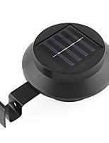 casa de la luz de la lámpara negro de energía solar accionado yarda valla con 3 conducido