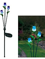3-LED Solar Tri-head Rose Decoration Light Garden Stake Lamp