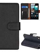 Lichee Texture Wallet Style Folio Stand Leather Case for HuaWei Ascend P7(Assorted Colors)