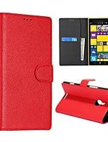 Para Capinha Nokia Carteira / Porta-Cartão / Com Suporte Capinha Corpo Inteiro Capinha Cor Única Rígida Couro PU Nokia Nokia Lumia 1520