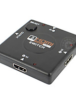 hdmi commutateur HDMI v1.4 3x1 (3 en 1 sortie) 1080p de soutien