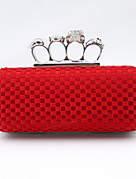 Women Other Leather Type Baguette Clutch-Green / Red / Fuchsia