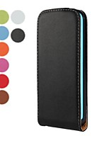 Solid Color Open Up and Down PU Leather Full Body Case for iPhone 5C (Assorted Colors)