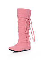 Women's Shoes Fabric Flat Heel Round Toe / Closed Toe Boots