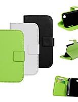 Для Кейс для LG Бумажник для карт / Кошелек / со стендом / Флип Кейс для Чехол Кейс для Один цвет Твердый Искусственная кожа LGLG L90 /