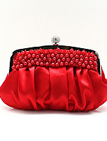 Women Other Leather Type Baguette Clutch-Beige / Red / Silver / Black / Burgundy / Champagne
