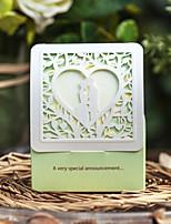 aquática favor do casamento do coração oco estilo caixas-conjunto de 12
