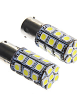 1156 6W 27x5050 SMD White Light Bulb for Car Brake Lamp (DC12V 2pcs)