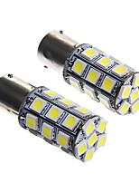 1156 6w 27x5050 smd bombilla de luz blanca de la lámpara del freno del coche (dc12v 2pcs)