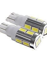 t10 5W 400lm 6000-6500K 10 cms 5730 LED cool plaque d'immatriculation de la voiture de lumière blanche / instrument / lampe de lecture (DC12V 2pcs)