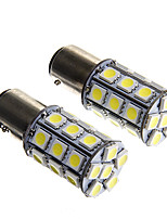 1157 6W 27x5050 SMD White Light Bulb for Car Brake Lamp (DC12V 2pcs)
