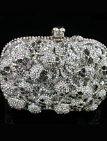 Women's Skull Design Rhinestone Clutch Hand Bag Evening Box