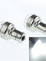 BAU15S (1056 PY21W) 1W 19LED 90-120LM 6500-7500K White Reversing Lights(DC12V/A 2pcs)