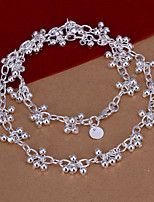 Fashion Grape Shape Pendant Silver Plated Ball Chain Rolo Necklace(White)(1Pc)