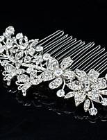 8.6cm rhinestone tiara peine del pelo de la joyería nupcial para la fiesta
