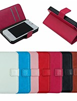 Crazy Horse Leather Wallet Full Body Case Flip Leather Stand Cover with Card Holder for iPhone 4/4S
