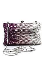 Women's Pillow Design Rhinestone Evening Bag Clutch Crystal Purse Case