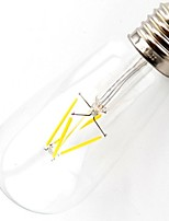 ON E26/E27 4.5 W 4 COB 400 LM Warm White T Dimmable / Decorative Globe Bulbs AC 220-240 / AC 110-130 V