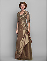 Women's Wrap Shrugs Half-Sleeve Lace Brown Wedding / Party/Evening V-neck Appliques / Beading / Lace Open Front