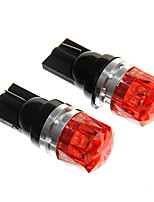 T10 1.5W 100LM COB Red LED Car Instrument Lamps (DC12V, 2Pcs)