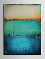 Ручная роспись Абстракция Вертикальная,Европейский стиль Modern 1 панель Холст Hang-роспись маслом For Украшение дома