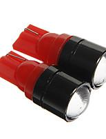 t10 1.5W cob 120lm rood licht led lampen voor auto instrument / zijmarkeringslicht (12V 2 stuks)