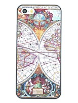 iPhone 7 Plus Ancient Map Pattern PC Hard Back Cover Case for iPhone 5/5S