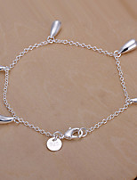 Siver Plated Waterdrop Copper Chain Bracelet