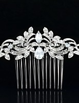 8.5cm Nobby Hair Comb Tiara Headpieces Wedding Bridal Jewelry for Party