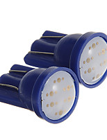 T10 1W COB 60LM Blue Light LED Bulbs for Car Instrument/Side Marker Lamp(DC12V 2pcs)