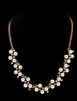 Classic Diamanted Pearl Statement Necklace(1 Pc)