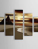 Pintados à mão Paisagens Abstratas Panorâmico Vertical,Moderno 5 Painéis Tela Pintura a Óleo For Decoração para casa