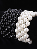 U7®Women's High Quality Synthetic European Pearl Beads  Cool Bangle Bracelet Austrian Rhinestone Jewelry Gift for Girl