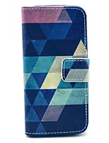 COCO FUN® Blue Puzzle Pattern PU Leather Full Body Case with Film, Stand and Stylus for iPhone 5/5S