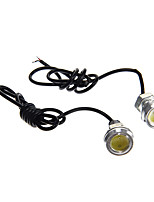 1.5W 200LM Car Eagle Eye Tail Lights 12V DC White Color 23mm(2Pcs)