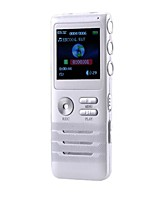 Digital Voice Recorder 8GB Dual-core Stereo Noise Reduction Function Dictaphone - White