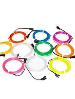 1,6 m flexible Neonlicht-Glühen dekorative 2,3 mm Durchmesser el Draht mit 2 AA-Batteriepack