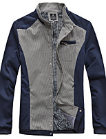 Men's Korean Fashion Plaid Print Stand Collar Slim Jacket