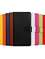 Solid Color Pattern Genuine Leather Full Body Case with Stand and Card Slot for Nokia Lumia 930