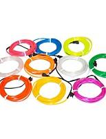 3,2 metros de luz de neón flexibles resplandor decorativo 2.3mm de diámetro de alambre con el paquete de baterías 2aa