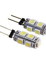 G4 1.5W 9x5050SMD 140-170LM White/Warm White Light LED Bulb (12V 2PCS)
