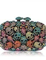 Women's Skull Design Rhinestone Evening Hand Clutches