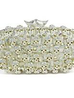 Women's Skull Design Rhinestonen Elegant Wedding Clutch