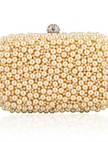 L.WEST Woman Fashion Pearl Inlaid Diamonds Evening Bag
