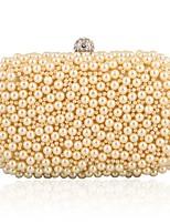 L.WEST Woman Fashion Pearl Inlaid Diamonds Evening Bag