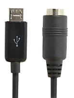 micro USB macho a hembra de 3,5 mm estéreo del coche aux cable de salida para la galaxia s4 s5 nota 2 i9600&envío libre Note3 N9000