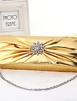Handbag Faux Leather Evening Handbags/Bridal Purse With Crystal/ Rhinestone/Metal