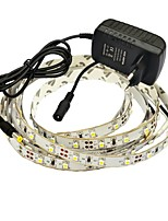 JIAWEN® 2.5M 10W 150x3528SMD 6000-6500K White/Warm White LED Flexible Strip Light + 2A Power (AC 110-240V)